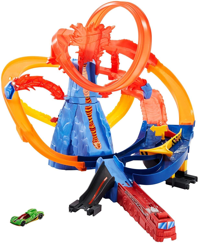 Купить Hot Wheels Трек Хот Вилс Вулкан побег из вулкана  ( Hot Wheels City Volcano Escape  Play Set) от
