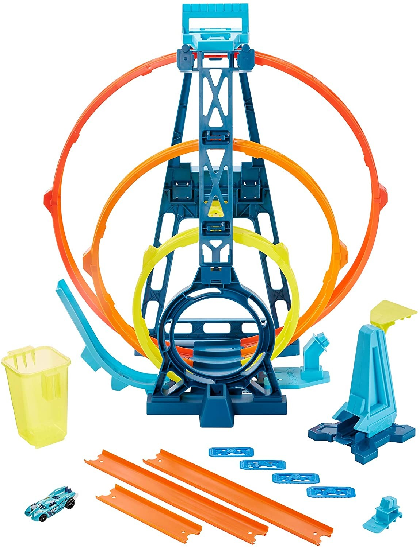 Купить Hot Wheels Трек Хот Вилс Тройная петля  ( Hot Wheels Track Builder Unlimited Triple Loop Kit GLC96) от