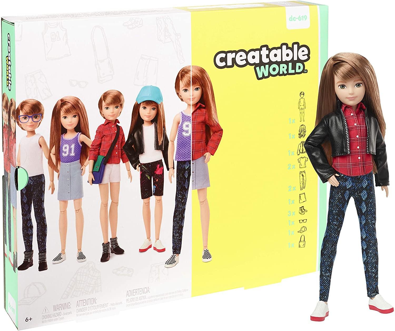 Купить Кукла Creatable World Создаваемый Мир  с медными прямыми волосами (Creatable World Deluxe Character Kit) от