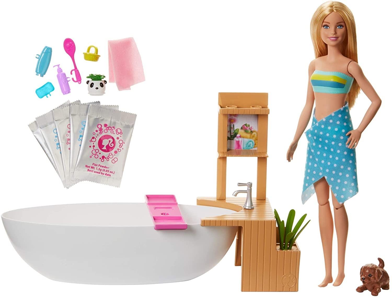 Купить Игровой Набор Барби Ванная комната (Barbie Fizzy Bath Doll & Playset, Blonde) от