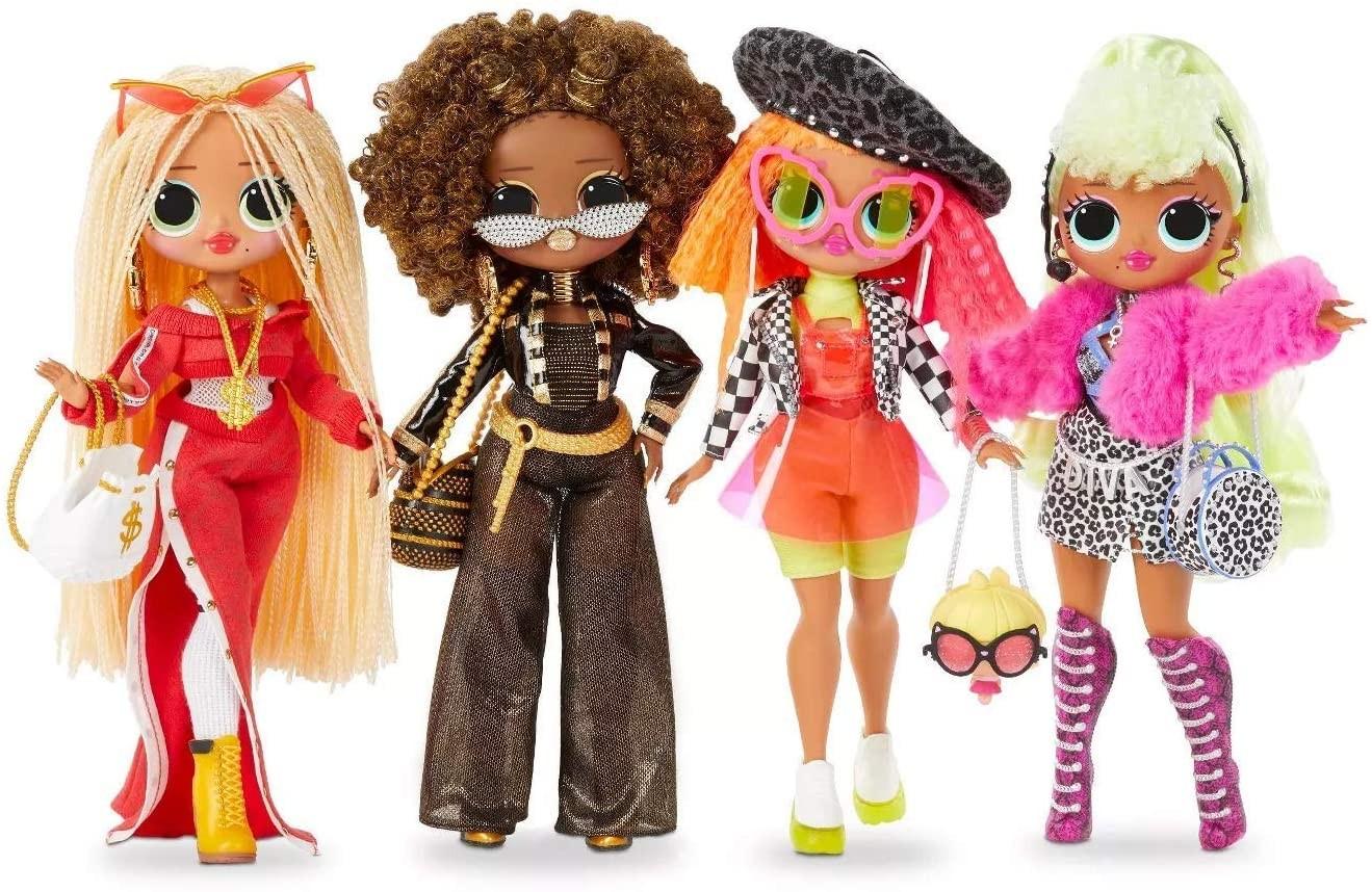 Купить L.O.L. Surprise! O.M.G. набор кукол Леди Диджей Неон Королева Пчелка Леди Дива от
