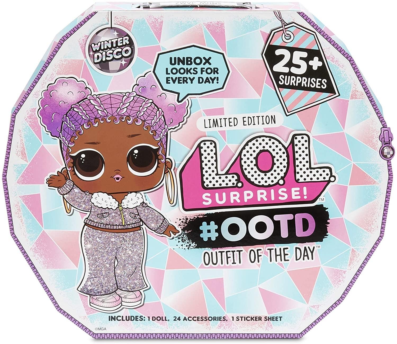 Купить Адвент-календарь ЛОЛ Сюрприз! 25сюрпризов (LOL Surprise #OOTD Dolls Outfit Of The Day Winter Disco) от
