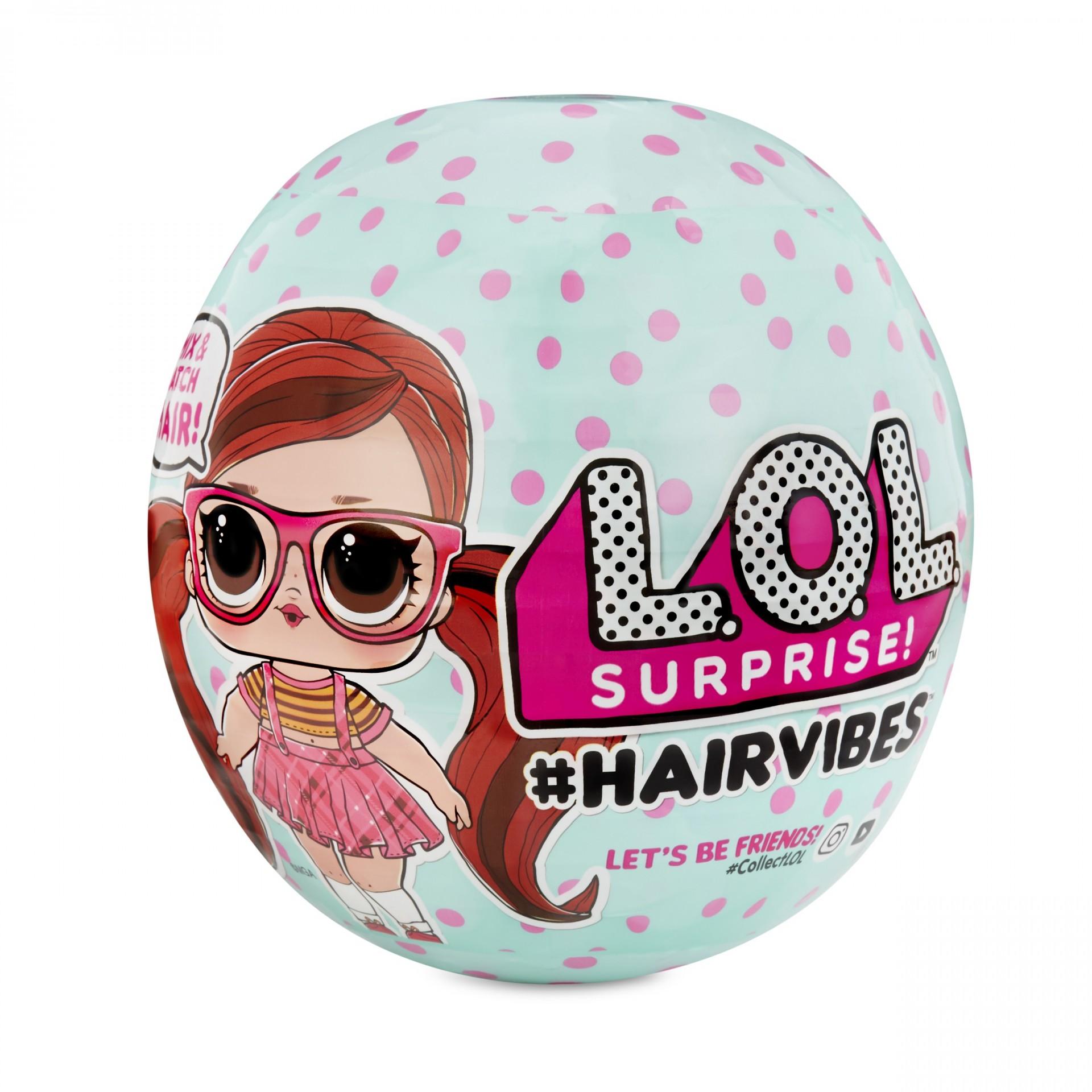 Купить Кукла ЛОЛ со сменными париками и волосами LOL Surprise Hairvibes Dolls 15 Surprises от