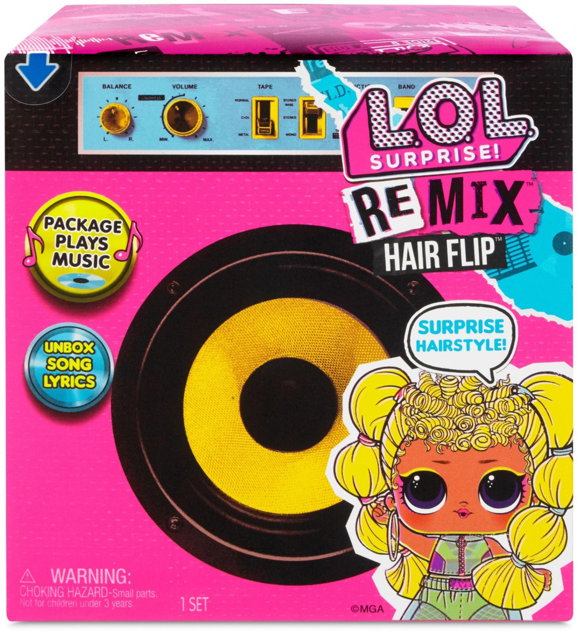 Купить Кукла ЛОЛ Ремикс  Музыкальный Сюрприз (L.O.L. Surprise! Remix Hair Flip Dolls – 15 Surprises) от