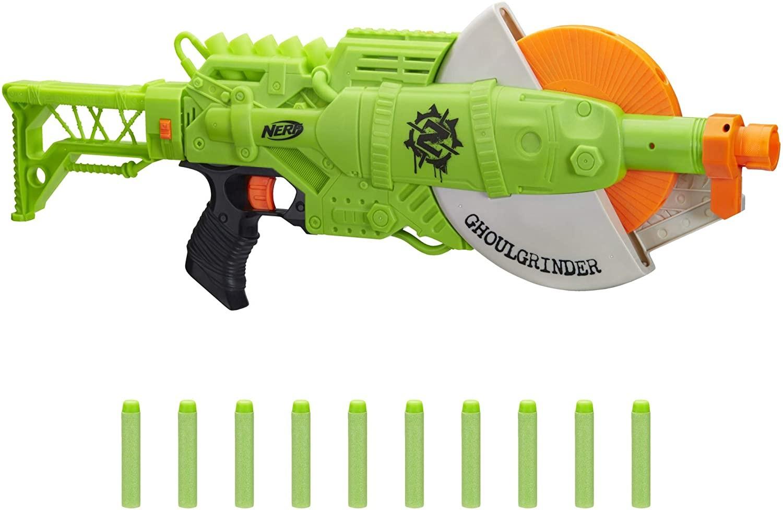 Купить Бластер Nerf Зомби Страйк Голгриндер (Nerf Ghoulgrinder Zombie Strike Blaster Hasbro) экоупаковка от