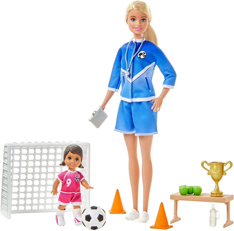 Купить Кукла Барби тренер по футболу (Barbie Soccer Coach Playset with 2 Dolls, Blonde) от
