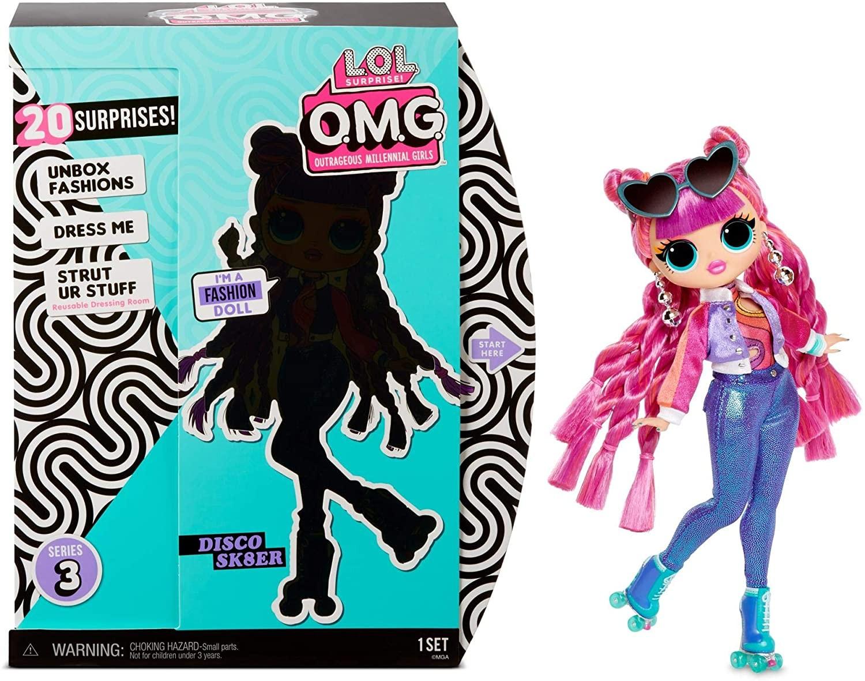Купить Кукла ЛОЛ  Диско Скейтер 3 серия Роллер (L.O.L. Surprise! O.M.G. Roller Chick Fashion Doll) от