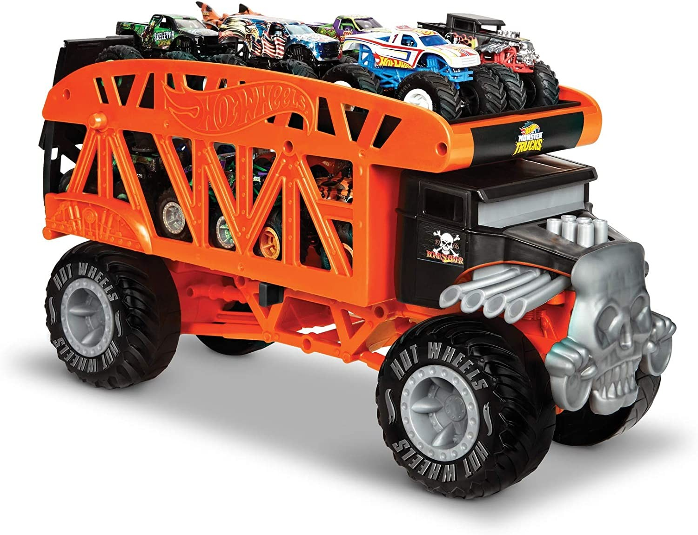 Купить Трейлер Автовоз Хот Вилс Hot Wheels Monster Trucks Monster Mover на 12 грузовиков-монстров от
