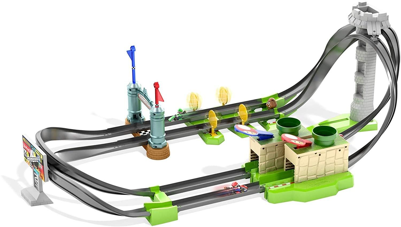 Купить Трек Хот Вилс Марио Карт не моторизированный  Hot Wheels Mario Kart Circuit Lite Track Set от