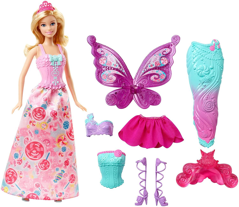 Купить Кукла Барби Русалочка Сказочное превращение Barbie Fairytale Dress Up Doll от