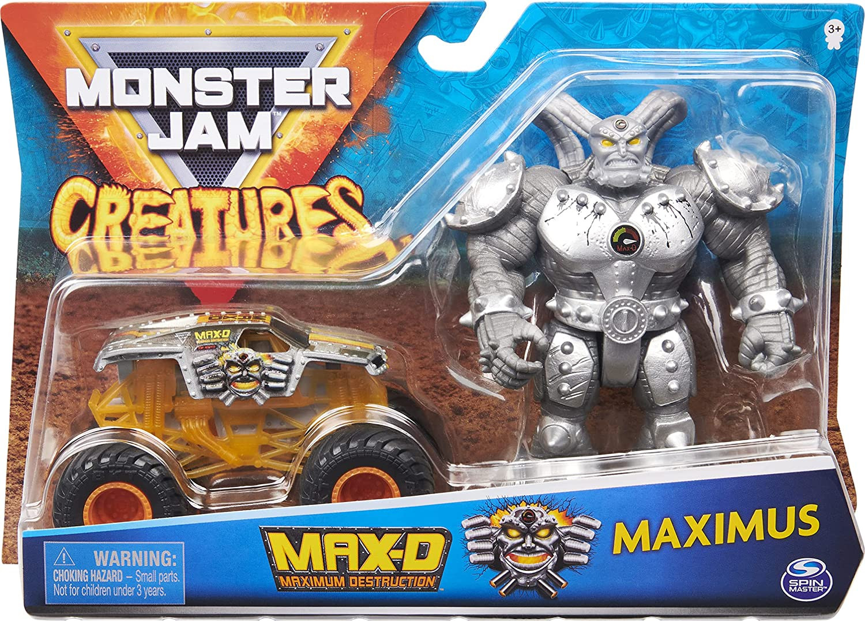 Купить Игровой набор Monster Jam, Official Max-D 1:64 Scale Monster Truck Maximus  Action Figure от