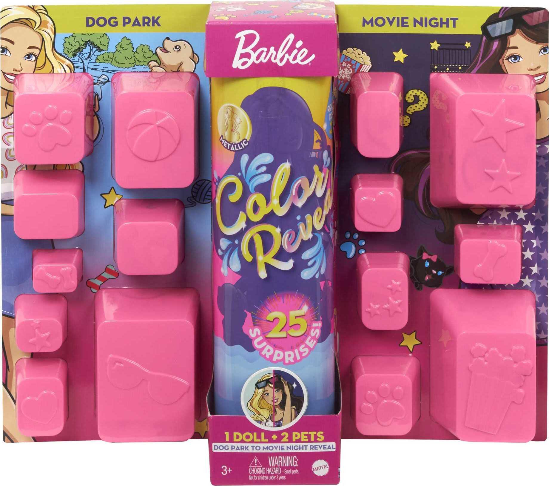 Купить Кукла Барби Ревил Цветное перевоплощение День и ночь Barbie Color Reveal Doll Day-to-Night Transformation от