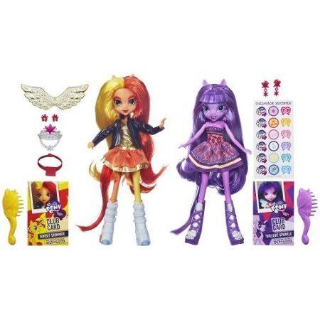 Купить Куклы Сансет Шиммер и Твайлайт Спаркл Девочки Эквестрии (My Little Pony Equestria Girls Sunset Shimmer and Twilight Sparkle) от