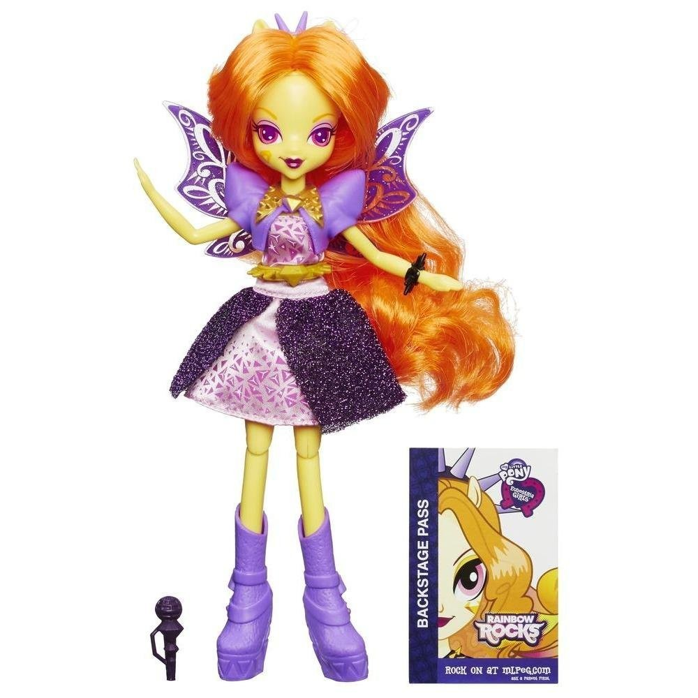 Купить Поющая кукла Адажио Даззл Рок Звезда Девочки Эквестрии (My Little Pony Equestria Girls Rainbow Rocks Singing Adagio Dazzle) от