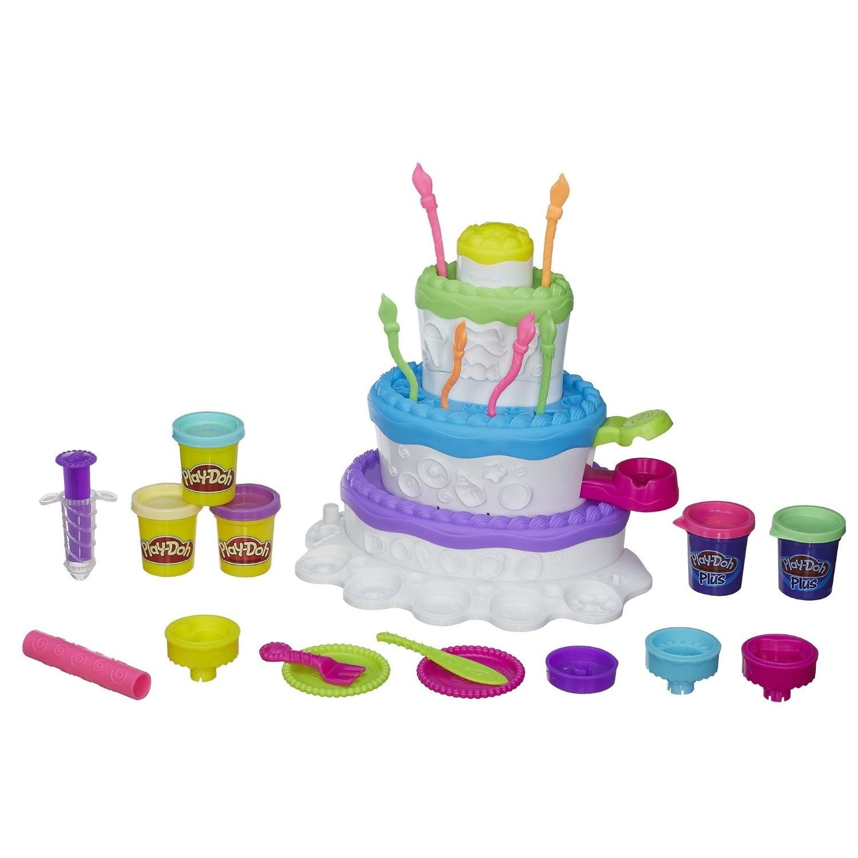 Купить Набор пластилина Play-Doh Праздничный торт Hasbro от