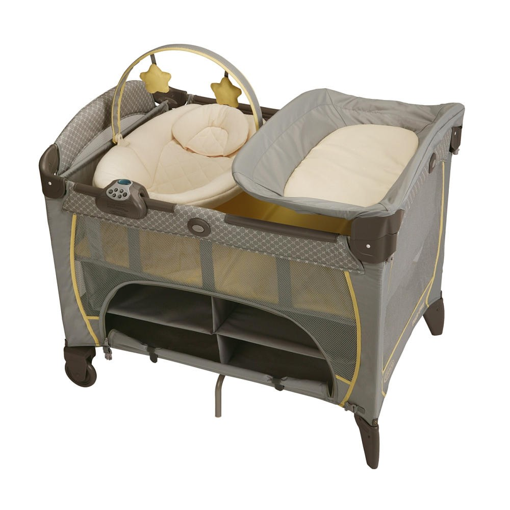 Купить Манеж-кровать Graco с колыбелью (Graco Pack 'n Play Playard with Newborn Napper Station DLX) от