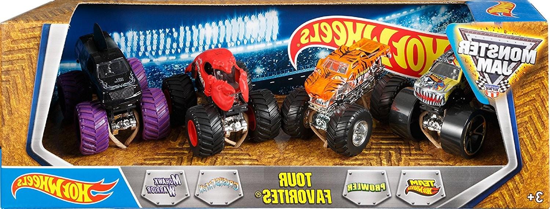 Купить Hot Wheels Набор из 4-х джипов внедорожников Monster Jam от