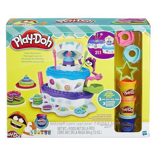 Купить Набор пластилина Play-Doh Праздничный торт Hasbro 2 в 1 (8 банок) от