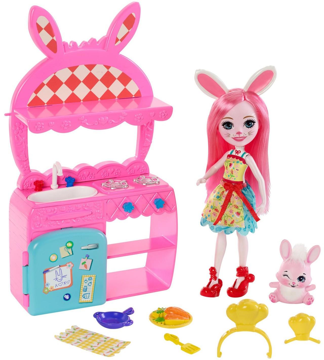 Купить Кукла Энчантималс Игровой набор Кухня Кролика Бри (Enchantimals Kitchen Fun  Bree Bunny Doll & Twist ) от