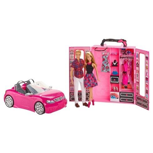 Купить Лялька Барбі та Кен з шкафом та машиною (Barbie Ken Dress Up and Go Closet and Vehicle) от