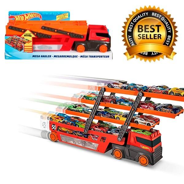 Купить Трейлер Автовоз Hot Wheels Mega Hauler на 50 машинок от