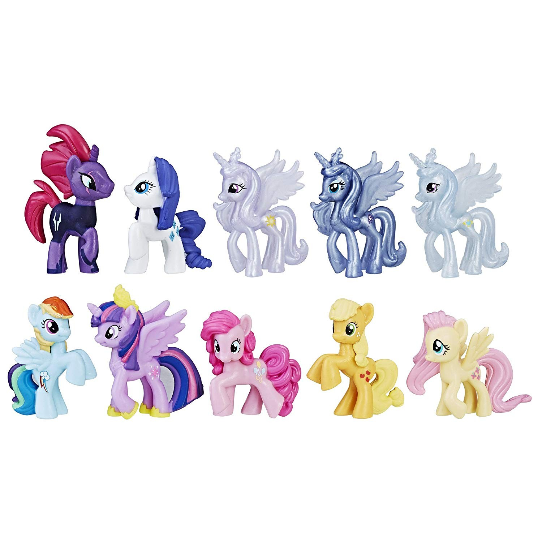 Купить My Little Pony  Набор из 10 мини пони (The Movie Magic of Everypony Round up mini figure collection) от