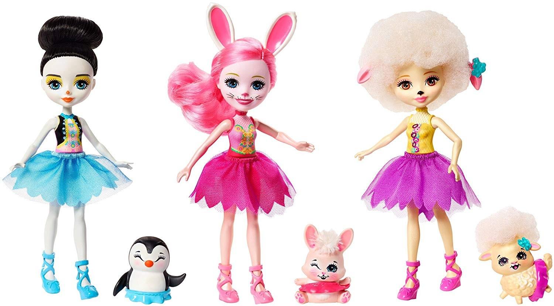 Купить Куклы Энчантималс Игровой набор из 3х кукол Подружки Балерины FRH55 (Enchantimals Ballet Cuties Doll 3-pack) от